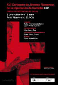 GALA FLAMENCA XVI CERTAMEN JÓVENES FLAMENCOS 2018 @ PEÑA FLAMENCA DE BAENA