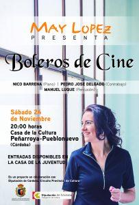 """""""BOLEROS DE CINE """"  con  MAY LÓPEZ @ CASA DE LA CULTURA"""