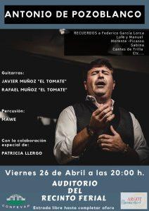 CONCIERTO ANTONIO DE POZOBLANCO @ AUDITORIO MUNICIPAL RECINTO FERIAL DE POZOBLANCO
