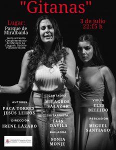"Espectáculo Flamenco "" Gitanas "" @ Parque de Miralbaida"